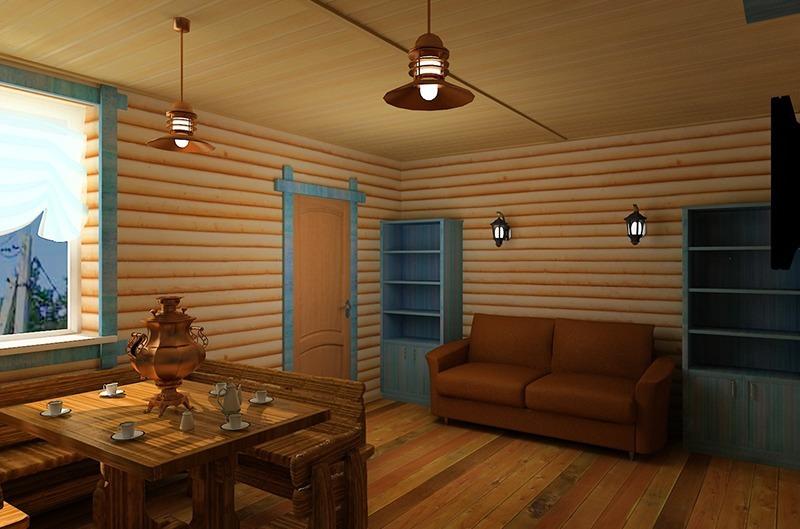 Отделка стен блокхаусом внутри дома фото
